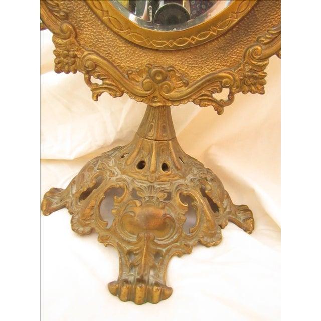 Antique Bronze Frame Swivel Mirror - Image 3 of 5