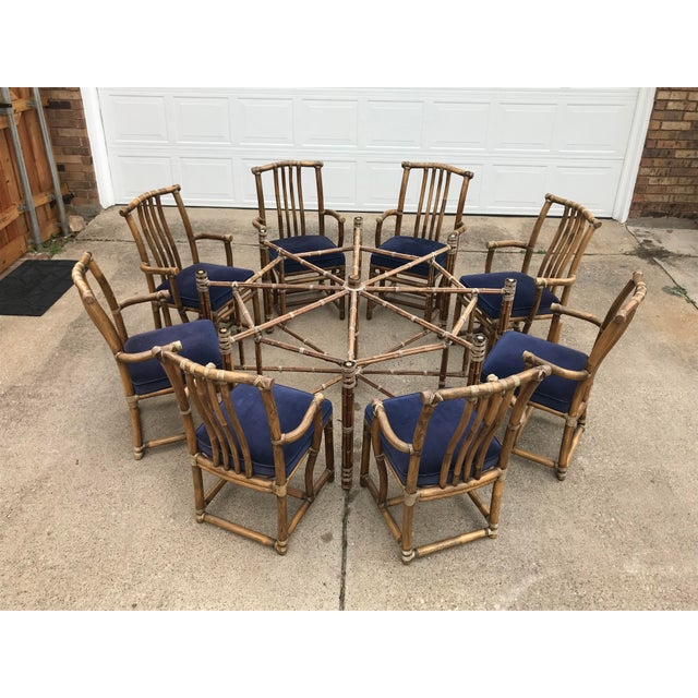 Monumental McGuire Dining Set - 9 Pieces For Sale - Image 10 of 13