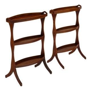 French Vintage Walnut Side Tables For Sale