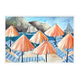 Cabana 3 by Lulu DK in White Framed Paper, Small Art Print