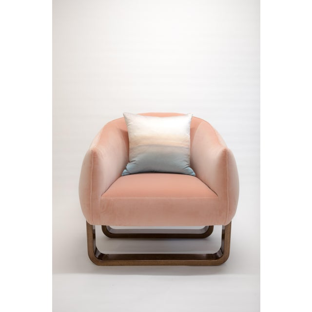 Marie Burgos Design Milo Armchair in Pink For Sale - Image 4 of 6