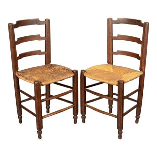 19th Century Country French Child's Chairs - a Pair For Sale