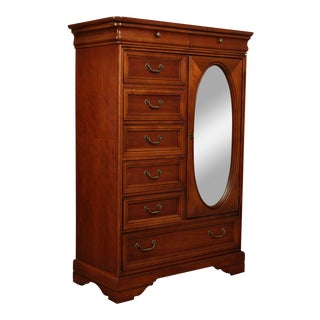 "Lexington Cherry ""Lynn Hollyn"" Chest of Drawers Mirror Door Wardrobe For Sale"