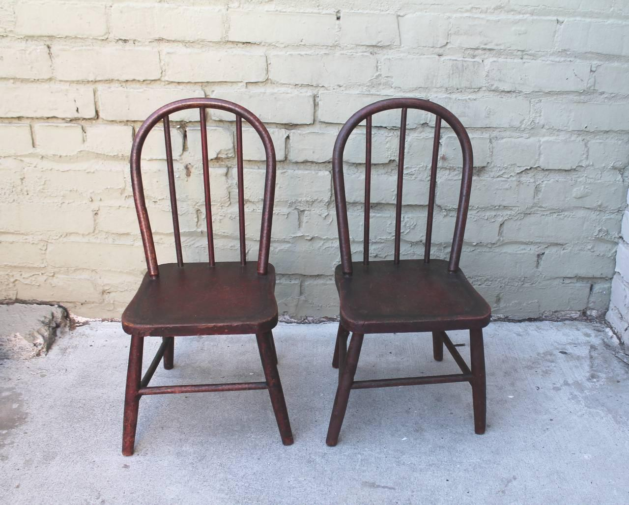 19th Century Original Red Painted Childrenu0027s Table and Matching Chairs - Image 6 of 10  sc 1 st  Decaso & Incredible 19th Century Original Red Painted Childrenu0027s Table and ...