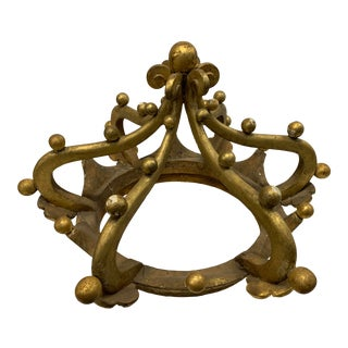Late 19th Century Antique Carved and Gilded Corona For Sale