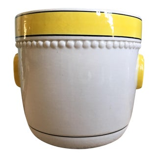 Vintage Large White Italian Ceramic Planter
