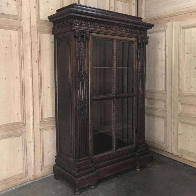 Louis XVI 19th Century French Louis XVI Neoclassical Bookcase For Sale - Image 3 of 13