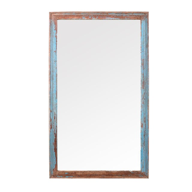 Vintage Turquoise Mirror Frame For Sale