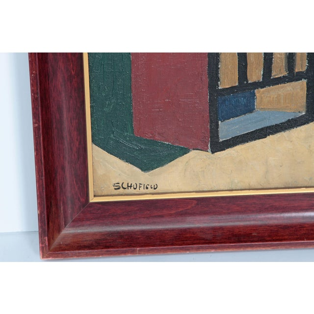 Canvas 20th Century American Abstract Still Life by Flora Scofield, Oil on Canvas For Sale - Image 7 of 12