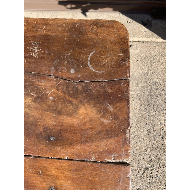 Rustic French Fruitwood Table With Stretchers For Sale - Image 10 of 13