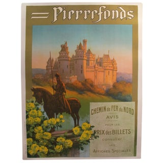 1920s Original French Art Deco Travel Poster, Pierrefonds For Sale