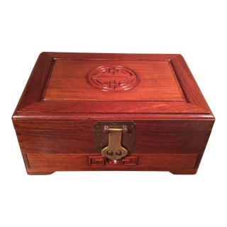 James Mont Chinoiserie Mahogany & Brass Writing Box For Sale
