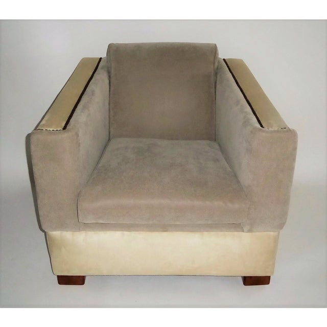 Streamline Moderne Lounge Chair 1940s For Sale - Image 10 of 11