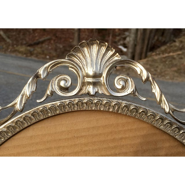 Glass Early 20th Century Art Nouveau/Art Deco Silver Gilded Standing Photo Frame For Sale - Image 7 of 13