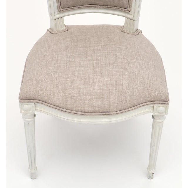 1900 - 1909 Louis XVI Style Painted Dining Chairs - Set of 6 For Sale - Image 5 of 10