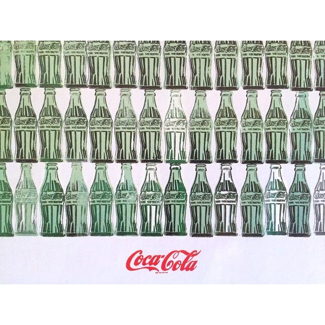 "1990s Andy Warhol Foundation Vintage 1999 Pop Art Lithograph Calendar Print "" Green Coca - Cola Bottles "" 1962 For Sale - Image 5 of 8"