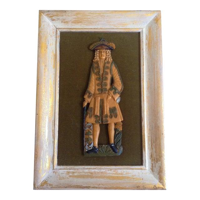 European Wax Gentleman's Portrait For Sale