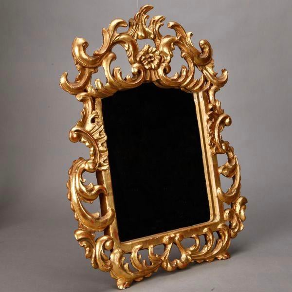 Baroque Italian Gilt Mirror With Scrolling For Sale - Image 3 of 4