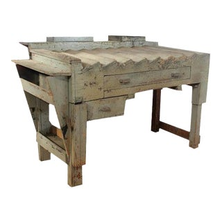 Antique Printer's Working Wood Table/Desk For Sale