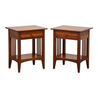 Ethan Allen American Impressions Cherry Nightstands - a Pair For Sale