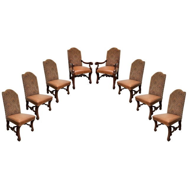 Vintage French Louis XV Style Dining Chairs - Set of 8 For Sale - Image 13 of 13