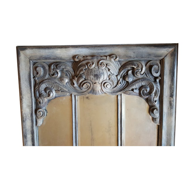 Antique Chateau Floor Mirror - Image 2 of 7