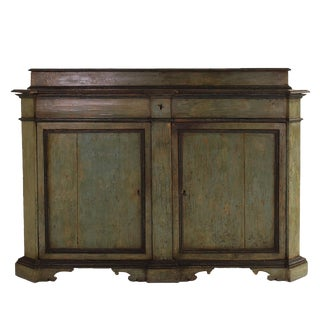 18th Century Italian Baroque Painted Credenza For Sale