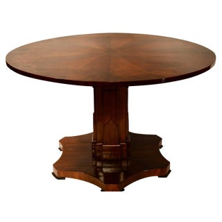 American Deco Pedestal Table For Sale