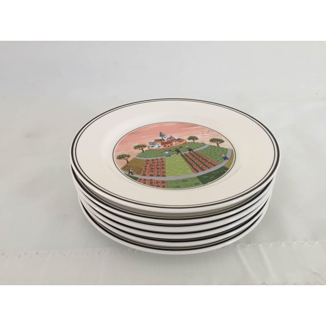 Villeroy & Boch Luxembourg Decorative Bread/Dessert Plates - Set of 6 For Sale In New York - Image 6 of 6