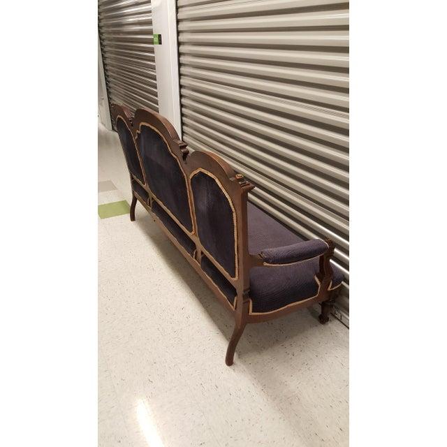 Antique Eastlake Design Settee - Image 7 of 8