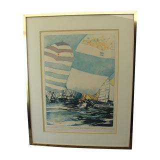 """""""Spinakers Run,"""" Lithograph Ronald Riddick For Sale"""