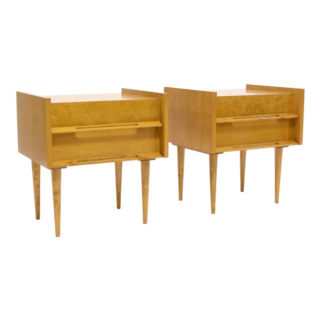 Pair Of Nightstands/ End Tables By Edmond Spence For Sale