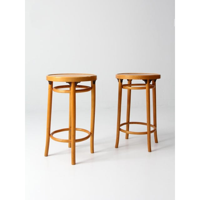 Bentwood Mid-Century Bentwood Stools - A Pair For Sale - Image 7 of 8