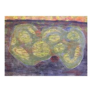 San Francisco Beatnik Artist Avrum Rubenstein Abstract Figure Painting For Sale