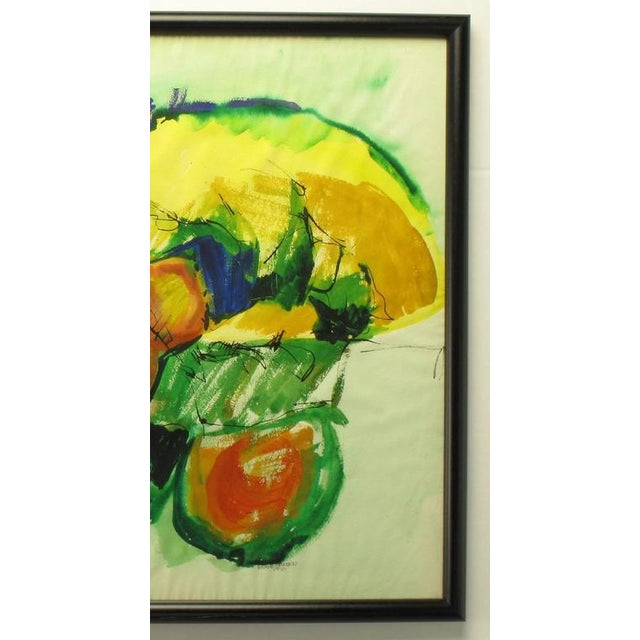 1970s Anne Jansen Water Color and Ink Abstract Painting, circa 1970 For Sale - Image 5 of 7