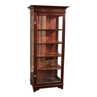 20th C. Sri Lankan Single Door Display Cabinet For Sale