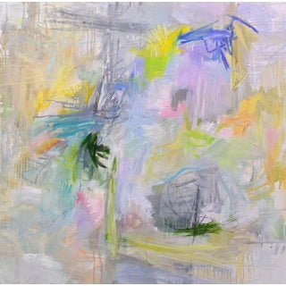 """London Fog"" by Trixie Pitts Large Abstract Oil Painting For Sale"