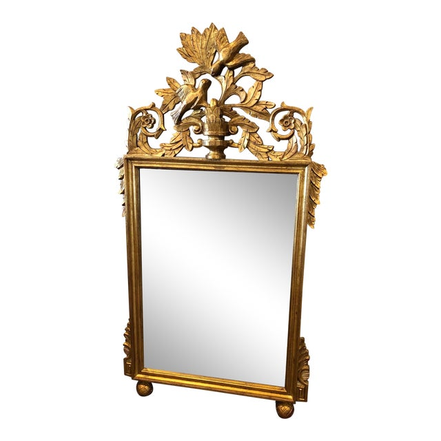 Antique French Gold Leaf Wall Mirror For Sale