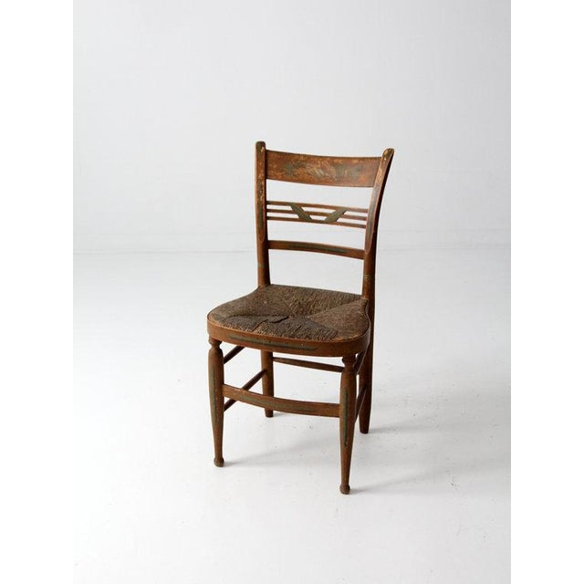 Antique Rush Seat Chair - Image 2 of 6