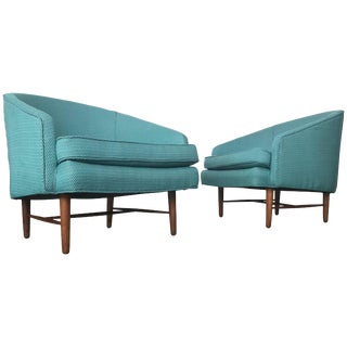 Newly Upholstered Danish Modern Lounge Chairs For Sale