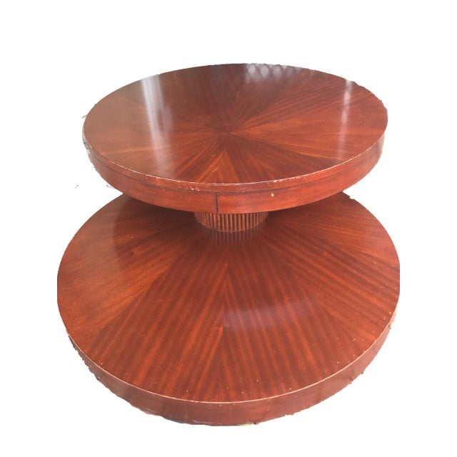 Round Wooden Rotating Coffee Table - Image 5 of 10