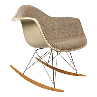 Rocking Chairs by Charles Eames for Herman Miller With Alexander Girard Textile For Sale