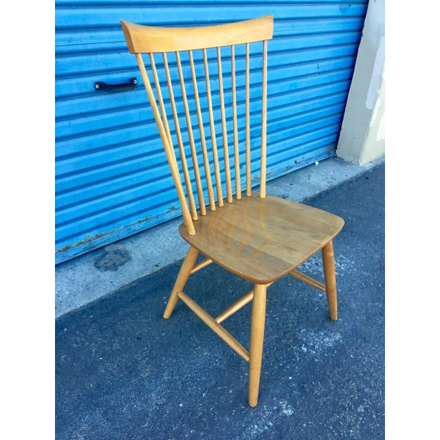 Ethan Allen Ethan Allen High Comb Spindle Back Chair For Sale - Image 4 of 11