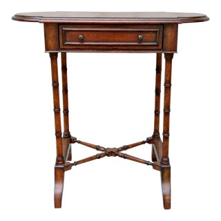Drexel Heritage Faux Bamboo Side Table