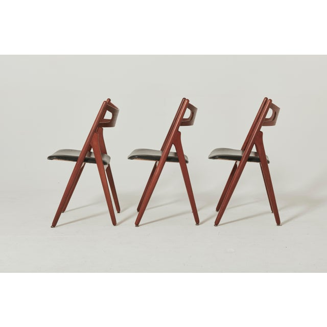 Set of Six Hans Wegner Ch-29 Sawbuck Dining Chairs, Carl Hansen, Denmark For Sale - Image 12 of 13