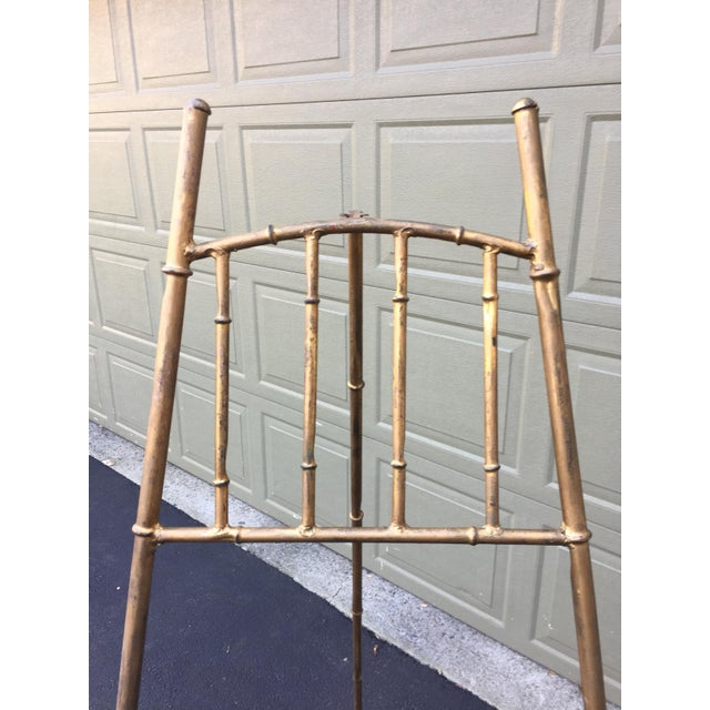 Modern XL Faux Bamboo Gilt Easel For Sale - Image 3 of 5