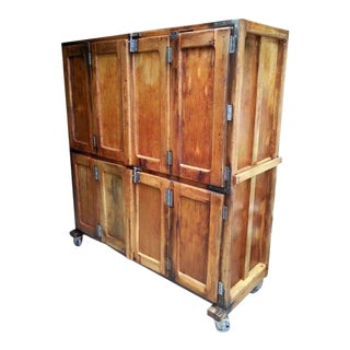 Antique French Bakery Cabinet