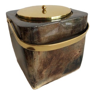 Aldo Tura Goatskin Ice Bucket For Sale