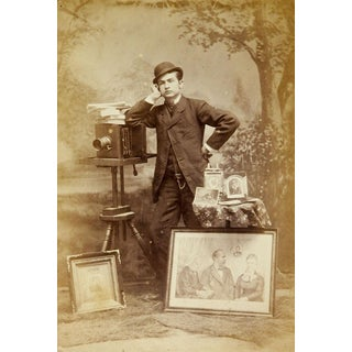 Antique Occupational Photograph of Photographer & Camera For Sale