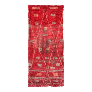 1970s Moroccan Red Rug For Sale